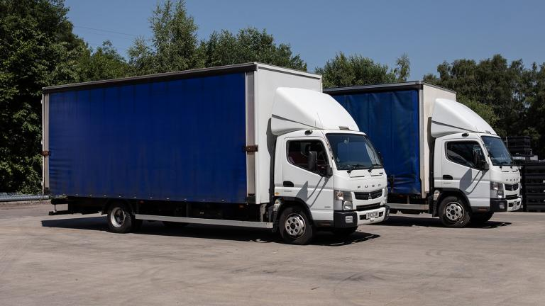 Linear Plastics arctic lorry delivery service