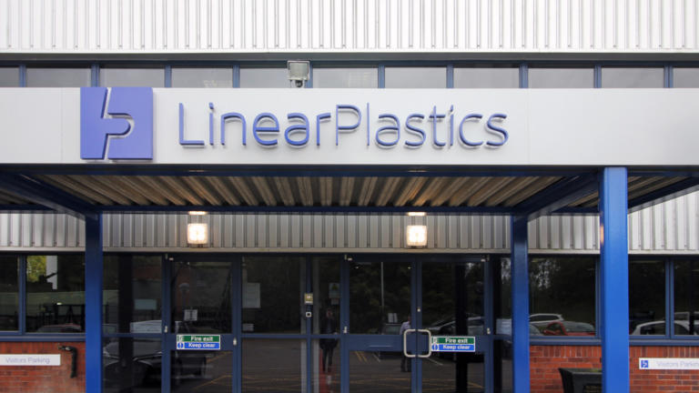Entrance to Linear Plastics main factory in Treforest