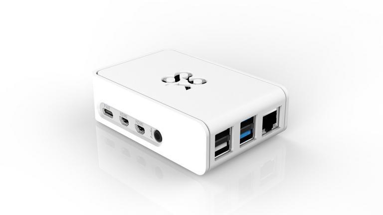 Raspberry Pi 4 in white