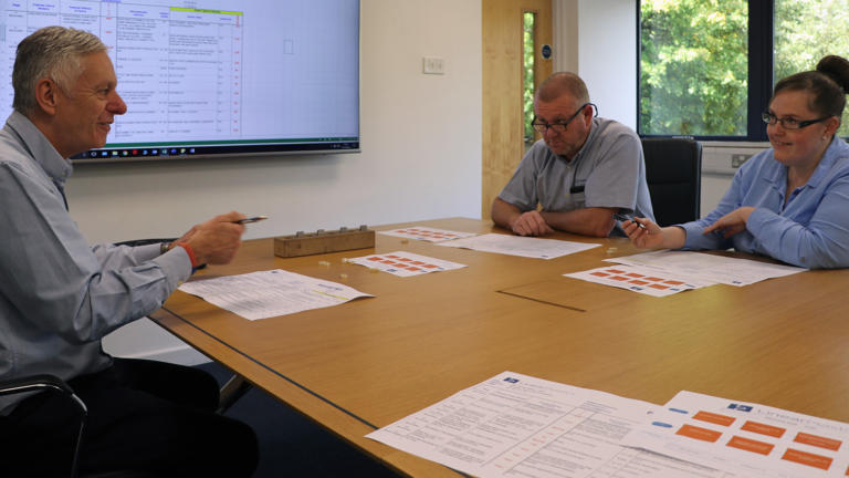 Linear Plastics staff attending internal training programme
